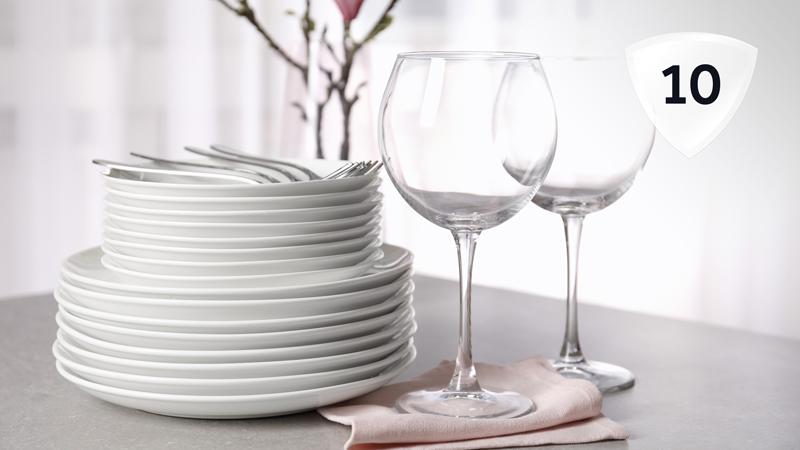 Загрузка 10 комплектов посуды