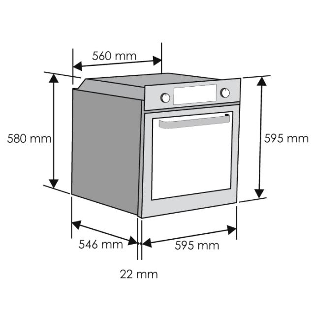 Духовые шкафы HOD-PM08TGB