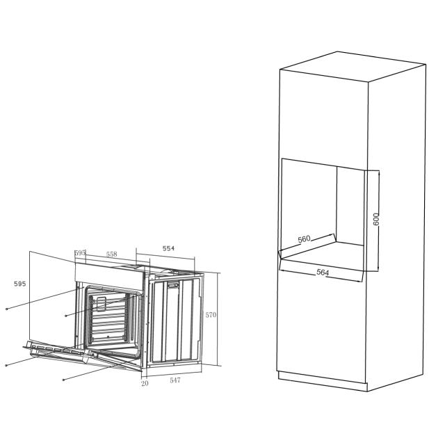 Духовые шкафы HOX-C09ATQBC