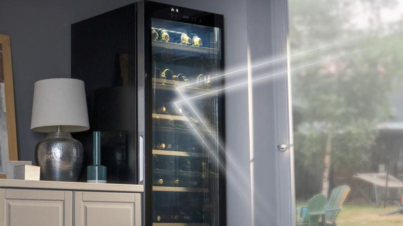 UV protection for your precious wine collection