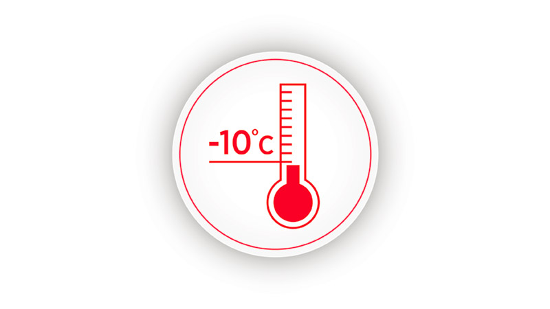 Up to -10°C