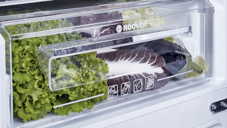 Chiller Zone and Salad Crisper with Telescopic Rails