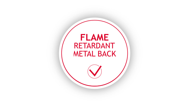 FLAME RETARDANT METAL BACK