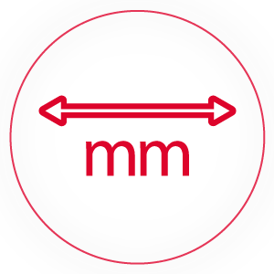 Width of the product (mm)
